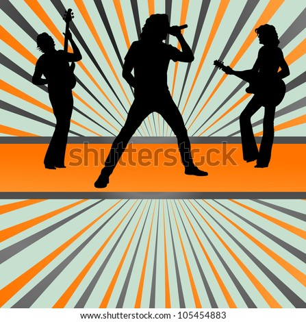 Rock concert band burst background vector