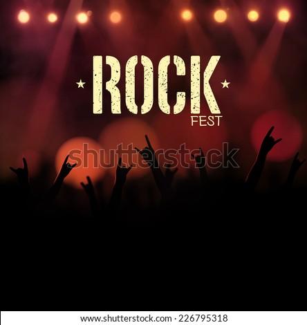 Rock festival, poster, eps 10 - stock vector