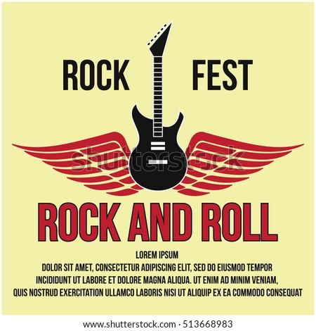 Rock Festival Music Concert Poster Design Template