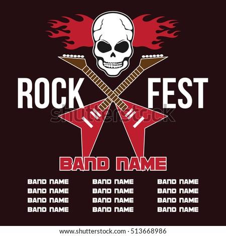 Rock Festival Music Concert Poster Design Template