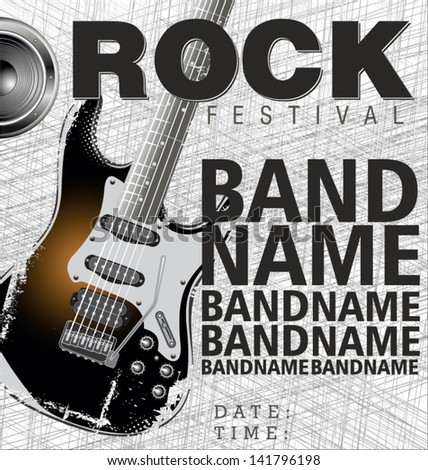 Rock Festival. vector illustration - stock vector