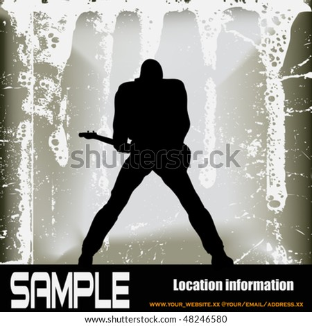 Rock God - stock vector