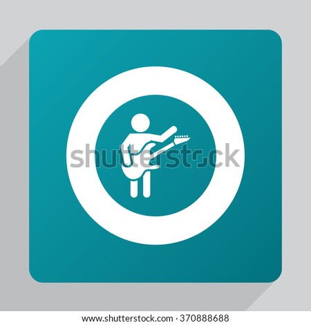 rock guitarist Icon Vector. rock guitarist Icon Art. rock guitarist Icon Picture. rock guitarist Icon Image. rock guitarist Icon logo. rock guitarist Icon Flat. rock guitarist Icon design - stock vector