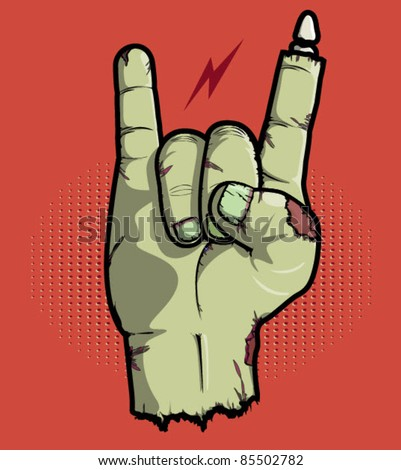 Rock is Not Dead with this rock on hand symbol