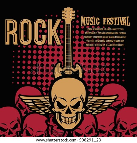 Rock Music Party Festival Poster Banner