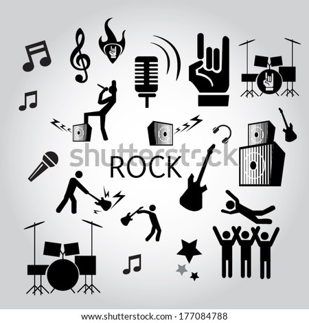 Rock n Roll icon  - stock vector