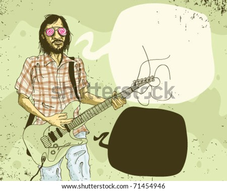 rock star. - stock vector