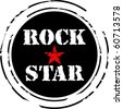 Rock star rubber stamp - stock vector
