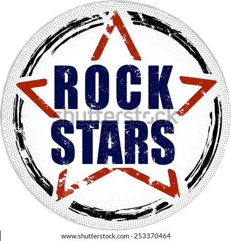 Rock stars grunge design. - stock vector