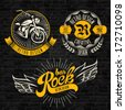 Rock themed badges. Vector - stock photo
