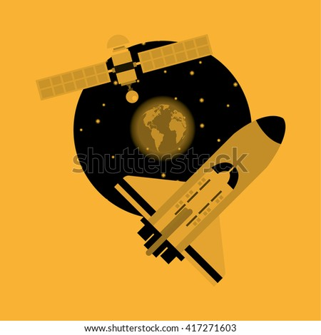 rocket design. science concept. cosmos icon, vector illustration