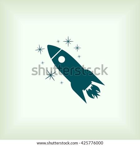 Rocket icon - stock vector