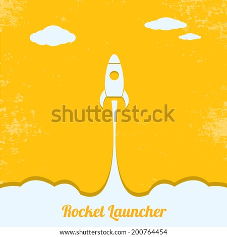 Rocket launcher. vector illustration - stock vector