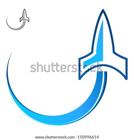 rocket lift off - stock vector