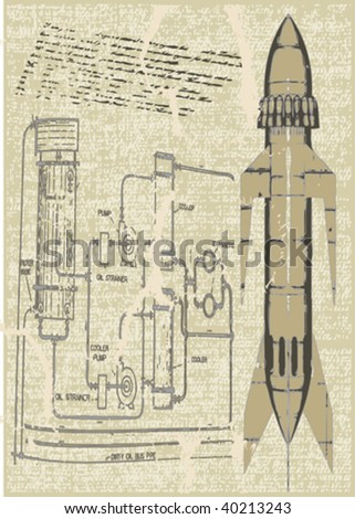 Rocket Plans - stock vector