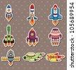 rocket stickers - stock vector