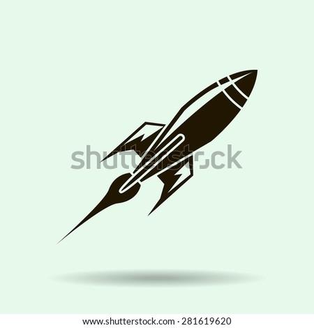 Rocket . Vector  icon - stock vector