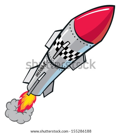 Rocket warhead projectile missile - stock vector