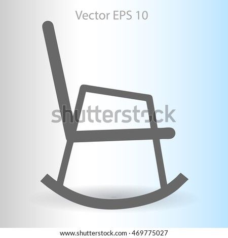 cat on a wicker chair rocking chair vector illustration rocking chair ...