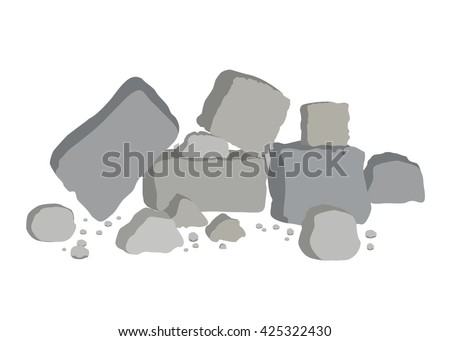 Rocks and stones - stock vector