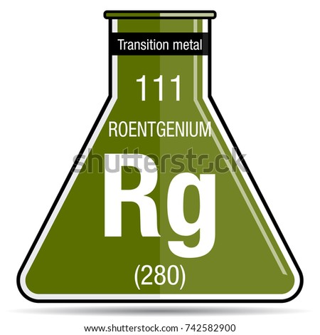 Roentgenium symbol on chemical flask element stock vector 2018 roentgenium symbol on chemical flask element number 111 of the periodic table of the elements urtaz Choice Image