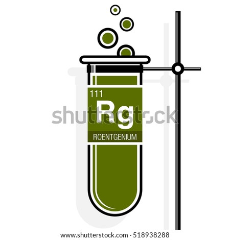 Plutonium symbol on label green test stock vector 518955817 roentgenium symbol on label in a green test tube with holder element number 111 of urtaz Gallery