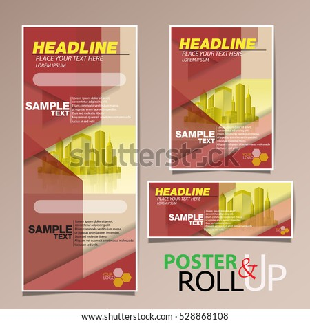 Roll Poster Business Brochure Flyer Banner Stock Vector