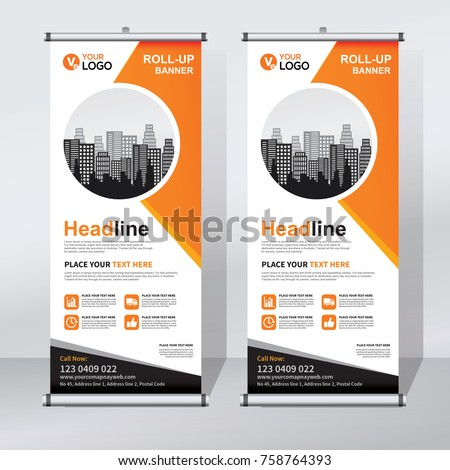 roll banner design template abstract background stock vector 758764393 shutterstock. Black Bedroom Furniture Sets. Home Design Ideas