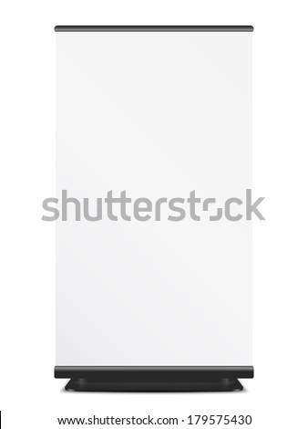 Roll Up banner on white background, vector eps10 illustration - stock vector