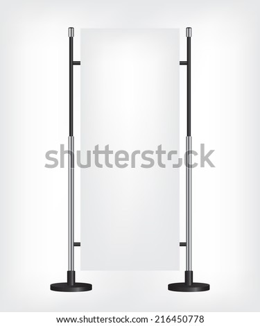 Roll up banner stand - stock vector