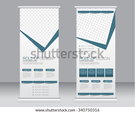 Roll Banner Stand Template Abstract Background Stock-Vektorgrafik ...