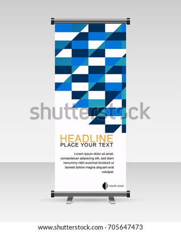 Roll Banner Stand Template Abstract Geomatric Stock Vector 705647473 ...