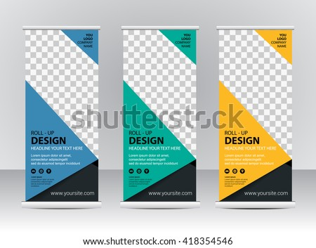 Roll Banner Stand Template Design Stock Vector 418354546 ...