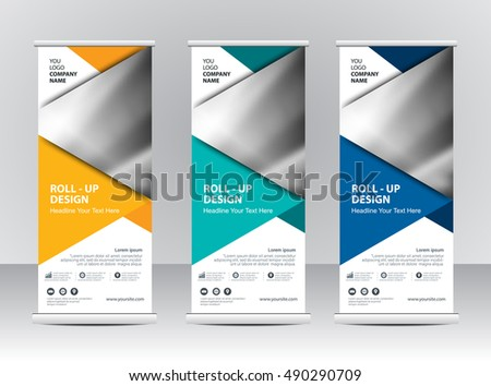 Roll Banner Stand Template Design Stock Vector HD (Royalty Free ...