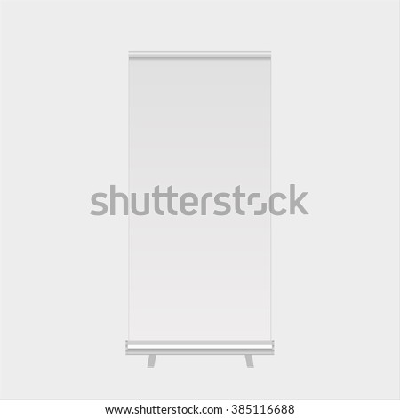 Roll up banners display template isolated. Vector illustration. Mockup for design