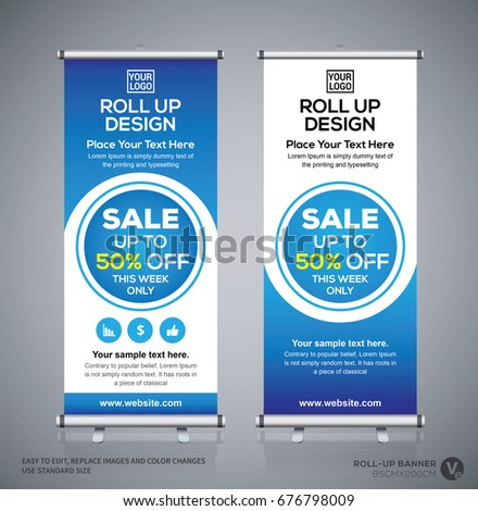 roll brochure flyer banner design template stock vector. Black Bedroom Furniture Sets. Home Design Ideas