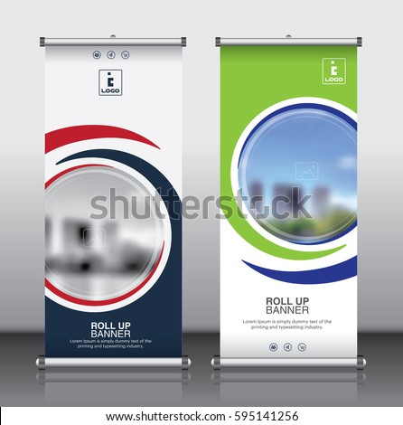 Roll Brochure Flyer Banner Design Template Stock Vector