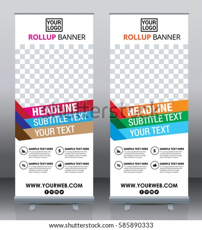 Roll Brochure Flyer Banner Design Template Stock Vector 585890333 ...