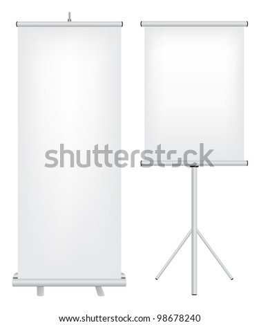 Roll up stand illustration - stock vector