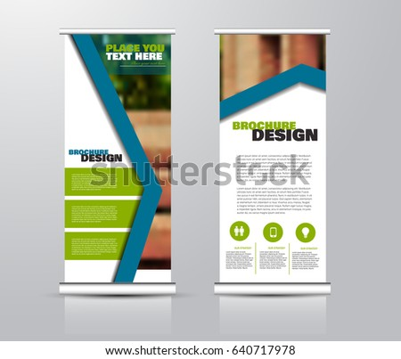 Roll Vertical Banner Template Stand Panel Stock Vector 640716580 ...