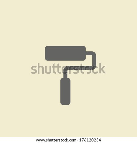 roller icon - stock vector