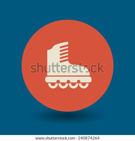 Roller icon or sign, vector illustration - stock vector