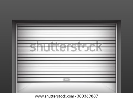 Roller shutter garage door. Vector & Shutter Door ภาพสต็อก ภาพและเวกเตอร์ปลอดค่าลิขสิทธิ์ | Shutterstock Pezcame.Com