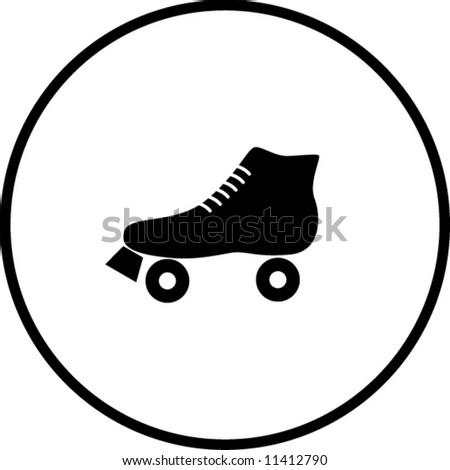 roller skate symbol - stock vector