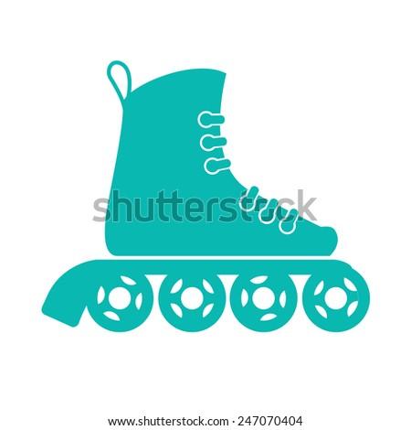 roller skates - stock vector