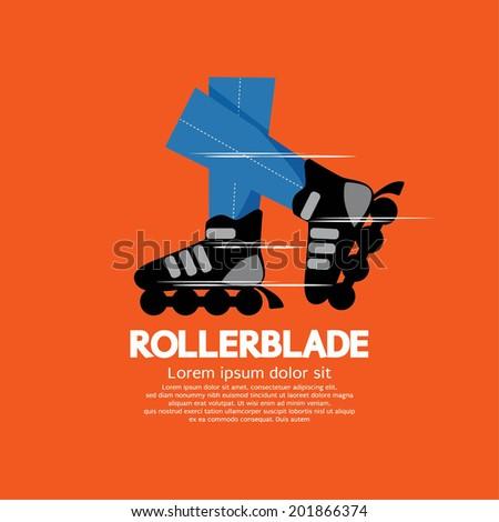 Rollerblade or Roller Skates Vector Illustration  - stock vector