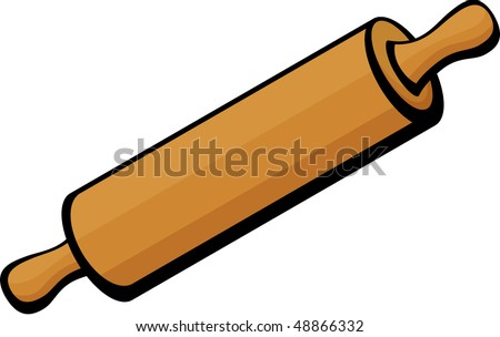 rolling pin - stock vector
