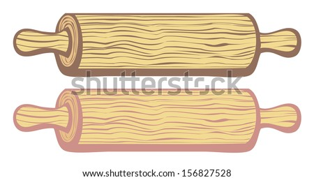 rolling pin vector - stock vector