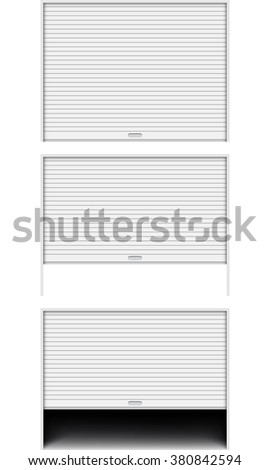 rolling shutters isolated on white background - stock vector
