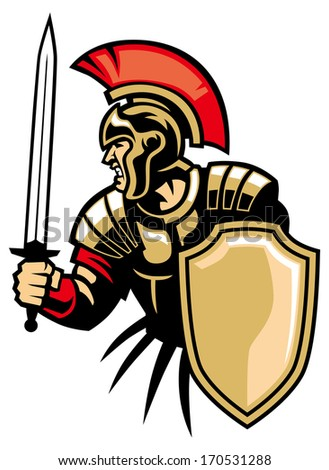 roman army - stock vector